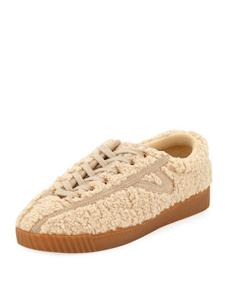 TRETORN NYLITE FAUX-SHEARLING SNEAKERS