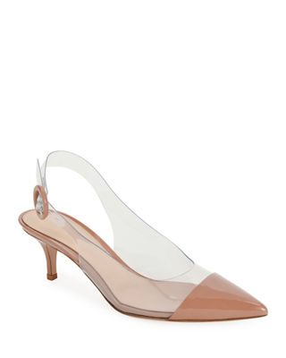 PLEXI SLINGBACK 55MM PUMP