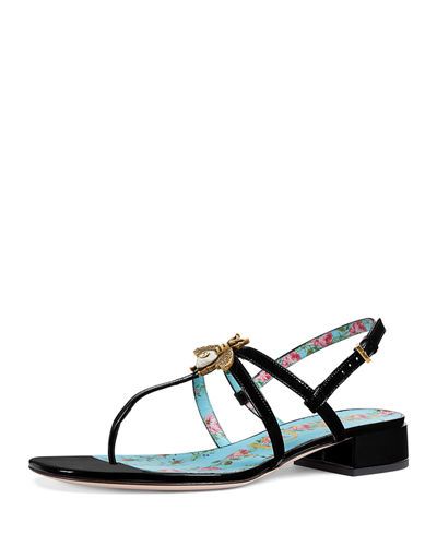 Gucci Patent Strappy Sandals