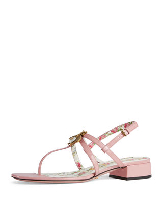 Patent Leather Sandals - Pink Size 9.5