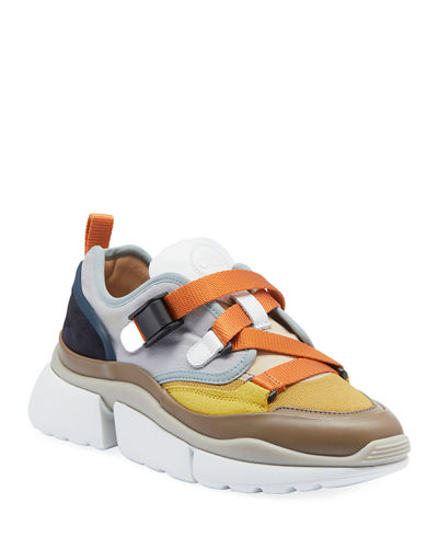 Multicolor Buckle Sneakers