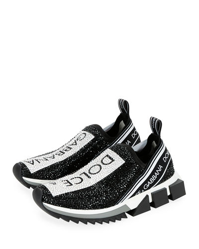 Crystal Logo Slip-On Trainer Sneakers