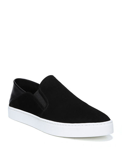 Garvey Suede Slip-On Sneakers w/ Fold-Down Back