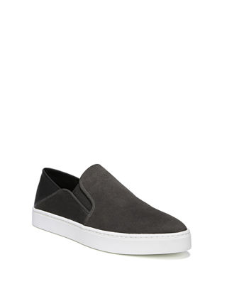 Women'S Garvey Round Toe Slip-On Suede & Leather Sneakers, Pewter