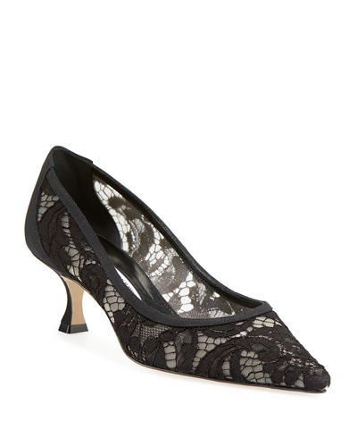 Srila Lace Kitten-Heel Pumps