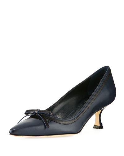 Papac Leather Pump with Bow