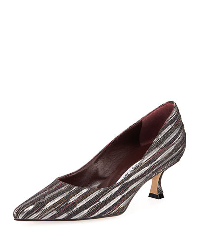 d4af3ca74 Manolo Blahnik Pump. 50MM Srila Fabric Pump