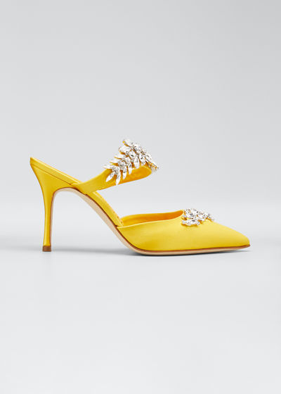 Lurum Crystal-Embellished Mule Pumps