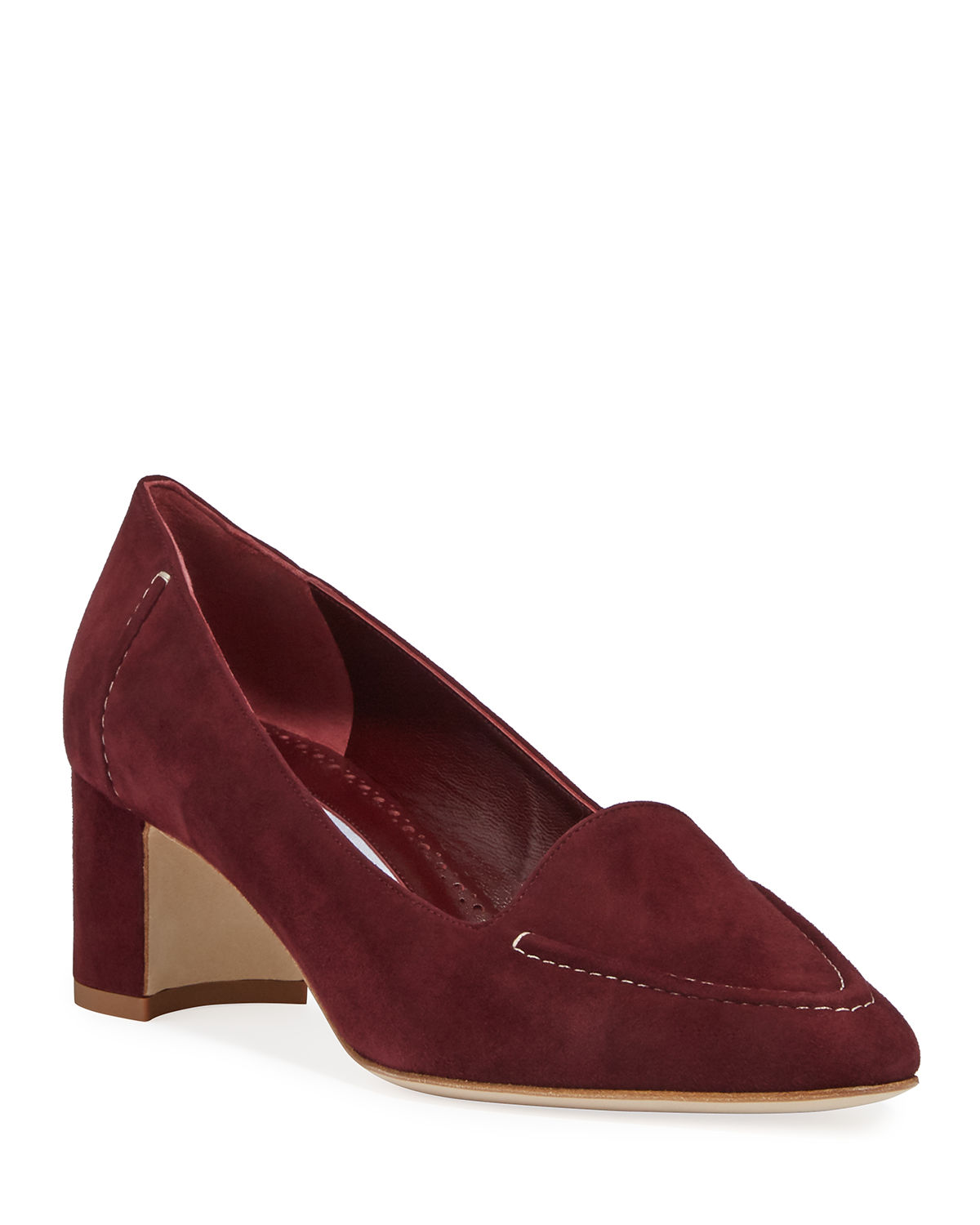 Manolo Blahnik Loafers ACORDA 50MM SUEDE LOAFER PUMPS