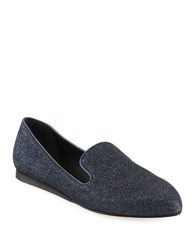 Griffin Glitter Fabric Loafer