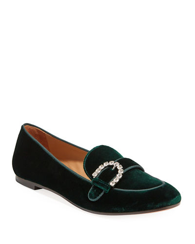 Montaigne Velvet Moccasin Loafers