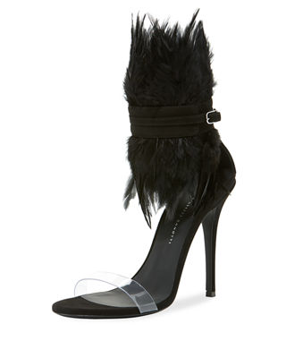 Feather High Red Sole Sandals