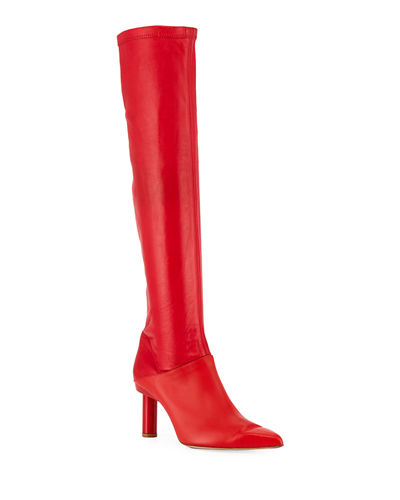 Caleb Leather Over-The-Knee Boot