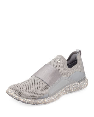 APL ATHLETIC PROPULSION LABS Techloom Bliss Pro Knit Mesh Sneakers in Cement/ Sea Salt/ Cream