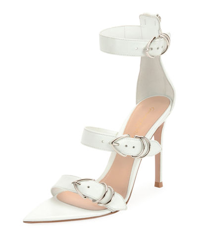 Leather Belted High Sandals