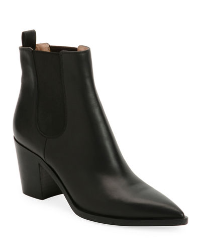 Leather Western Chelsea Booties