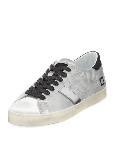 Hill Low Velvet Platform Sneakers