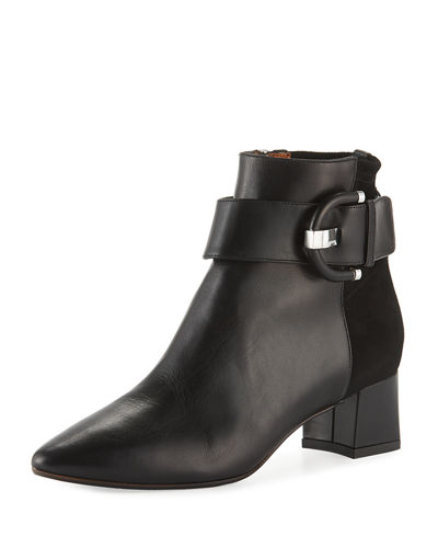 Phiona Mixed Ankle Booties
