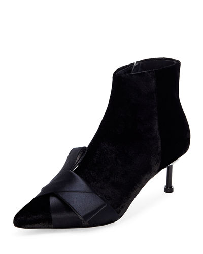 Kiwa Velvet and Satin Booties
