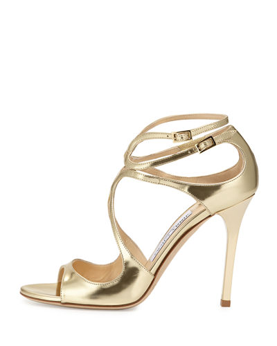 Lang Metallic Leather Sandal