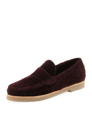 Women'S Bromley Shearling Loafers, Wine