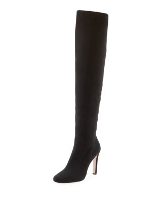 Suede Knee Boots - Nero Size 11 in Black