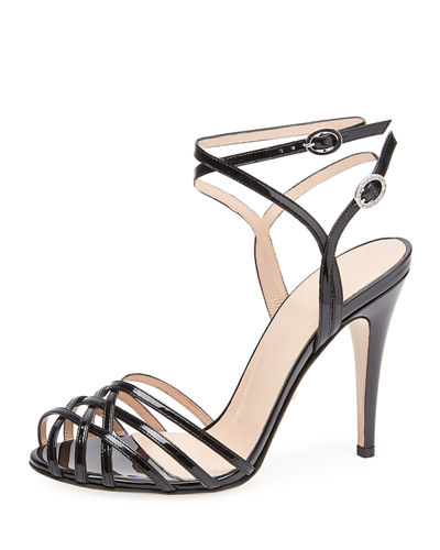 Shiny Patent Leather Sandals