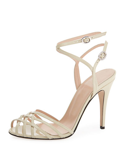 Gucci Shiny Patent Leather Sandals