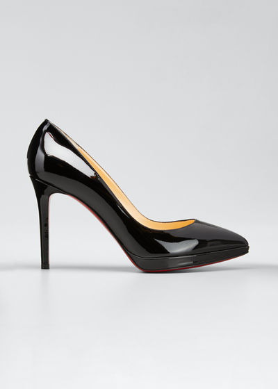 Pigalle Plato Patent Red Sole Pumps