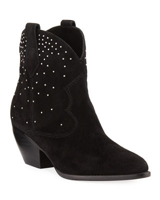SIGERSON MORRISON SUEDE BOOTS WITH STUD DETAIL