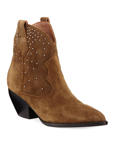 Suede Boots with Stud Detail