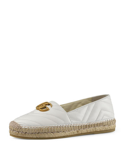 GG Ornament Leather Espadrilles