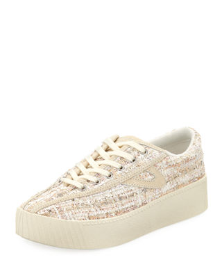 Bold Perforated Platform Sneaker, Pink