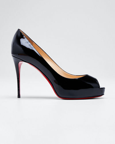New Very Prive Peep-Toe Red Sole Pumps