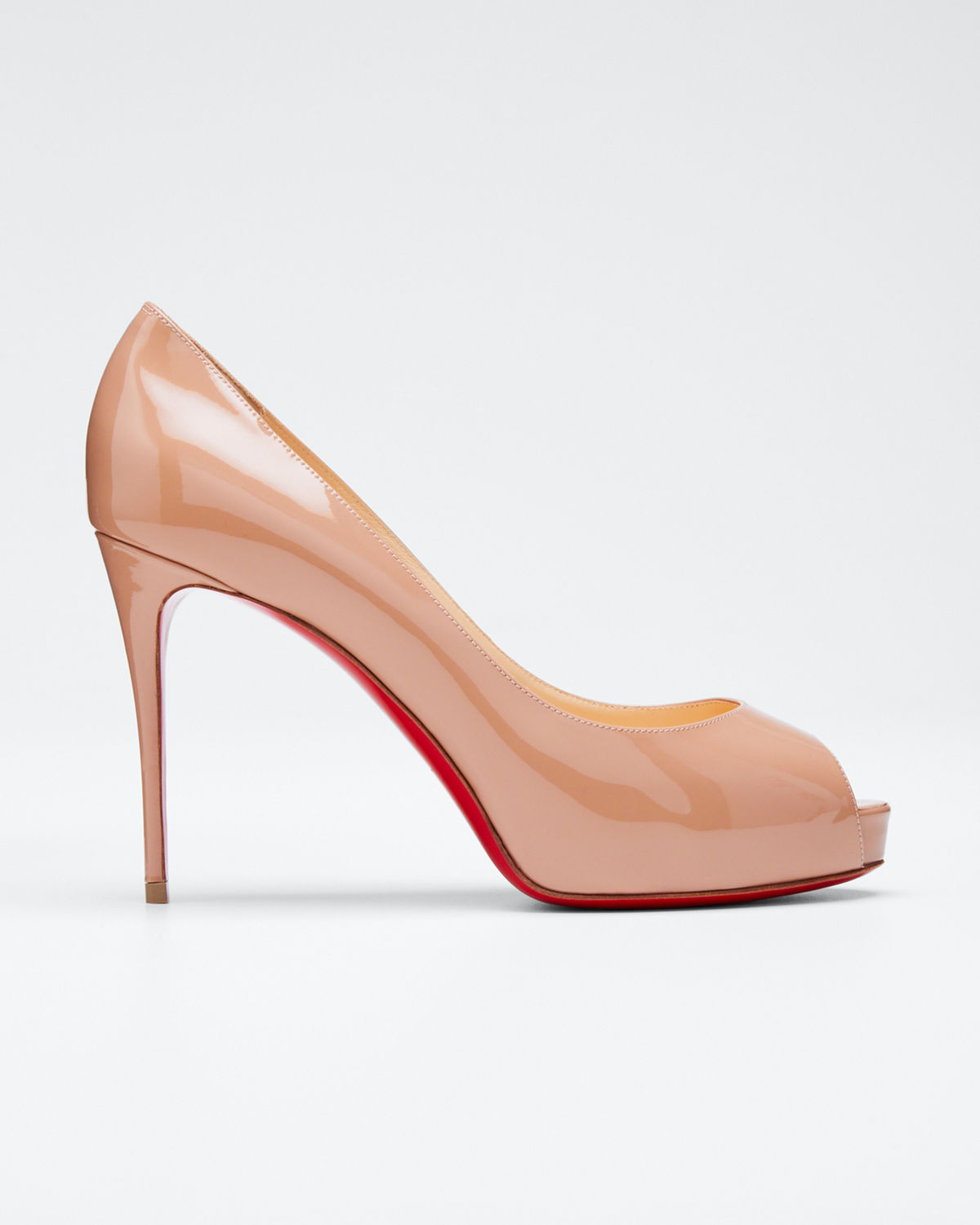 new concept df2bd bf327 New Very Prive Peep-Toe Red Sole Pumps