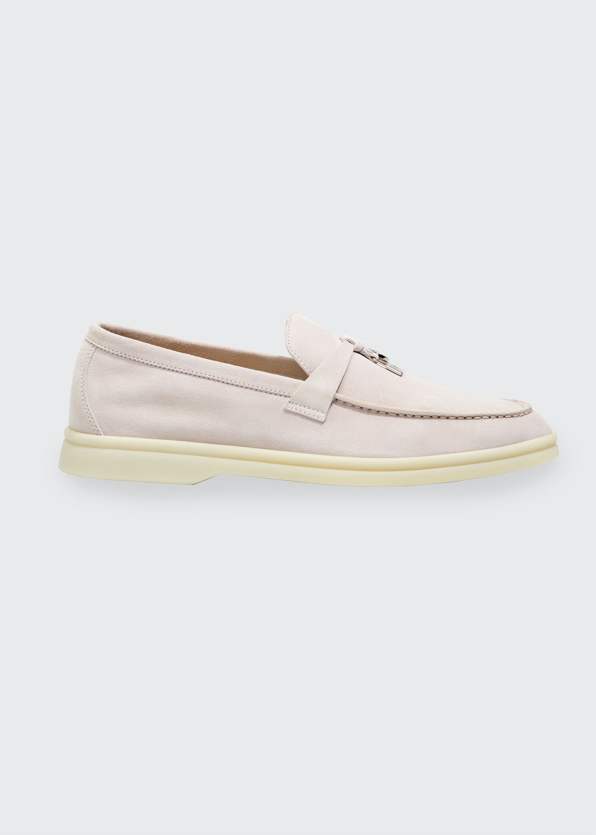 Loro Piana SUMMER CHARMS WALK SUEDE LOAFERS