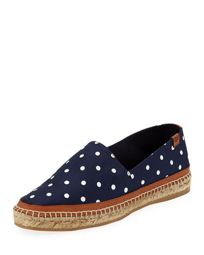 Alba Dotted Flat Espadrilles