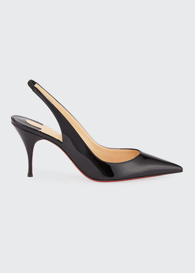 Clare Sling 80mm Leather Red Sole Pumps