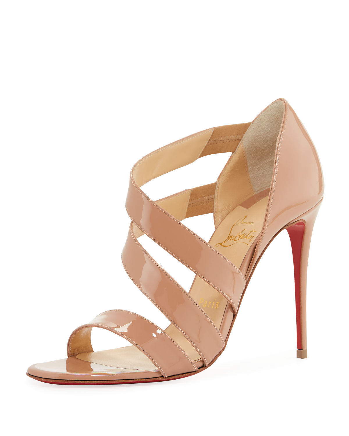 cbb84d3242a3 Christian Louboutin World Copine Asymmetrical Sandal In Nude Patent ...