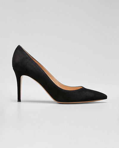 Gianvito 85 Suede Point-Toe 85mm Pump