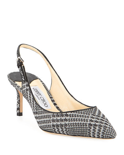 Erin 60mm Prince of Stars Flannel Slingback Pumps