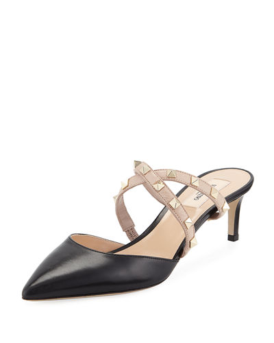7803ad7db45 Valentino Covered Heel Rockstud Shoes