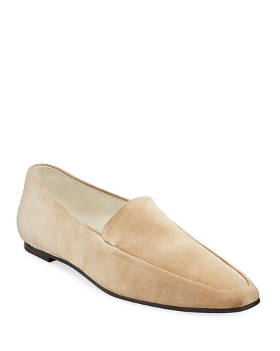 563bcd51852 Minimal Flat Suede Loafers