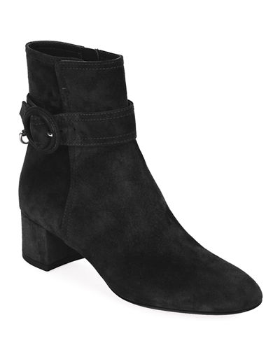 Suede Buckle 45mm Booties