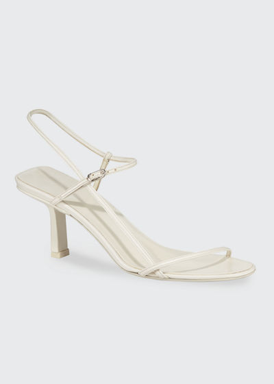 Nude Asymmetric Leather Sandals