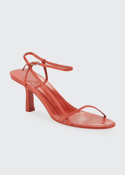 Bare Asymmetric Leather Sandals