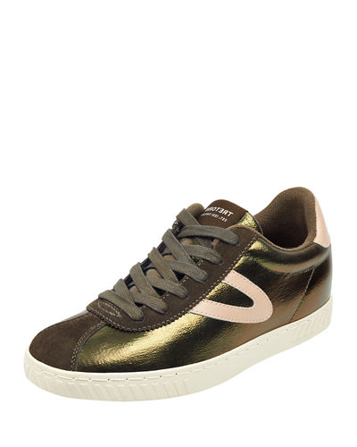 Callie Metallic Low-Top Sneakers
