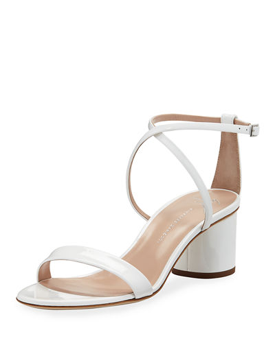 Patent Leather Crisscross Sandals