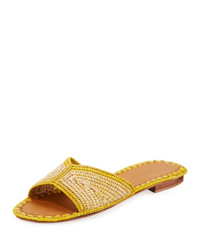 Salon Miste Woven Raffia Slide Sandals