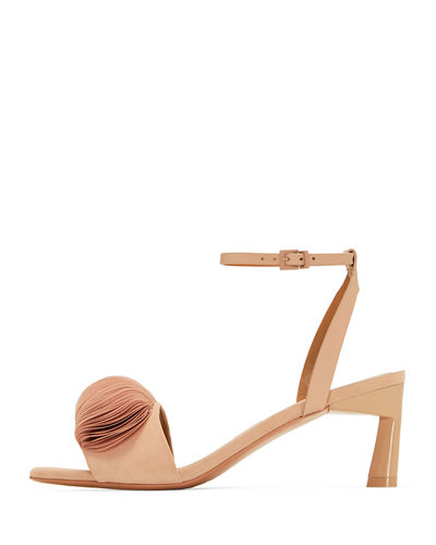 Oraley Suede Ankle-Wrap Sandals